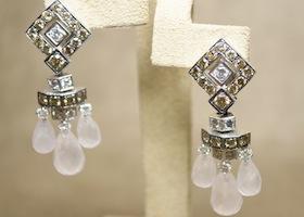 custom earrings on display