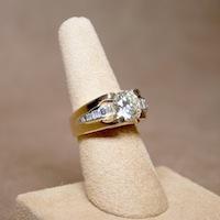 wedding ring on display finger